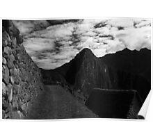 Machu Picchu Black and White Poster