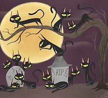 13 Black Cats by Sandra Rivas