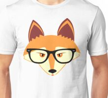 Red Fox with Glasses Unisex T-Shirt