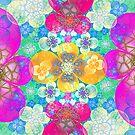 crackled panzy garden by LoreLeft27