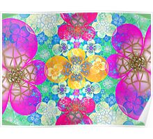 crackled panzy garden Poster