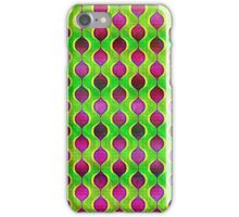 funky purple yellow and green retro ogee pattern iPhone Case/Skin