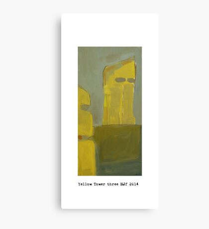 yellow tower 3  Canvas Print
