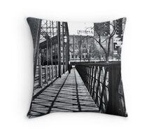 Black & White St. Anthony  Throw Pillow