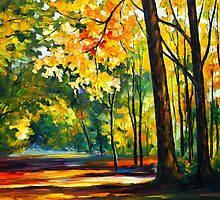 MORNING FOREST by Leonid  Afremov