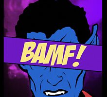 Nightcrawler Bamf! by fletchboogie