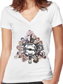 Dangan Ronpa: The T-shirt! Women's Fitted V-Neck T-Shirt