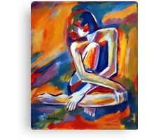 Seated Lady Canvas Print