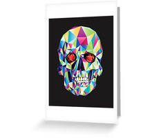 Geometric Skull Candy Greeting Card