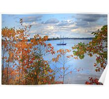 Leaf Peeping at Sodus Bay Poster
