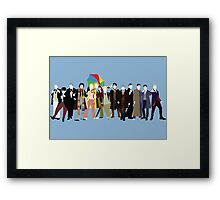 All Thirteen! (Version 3) - Doctor Who Framed Print