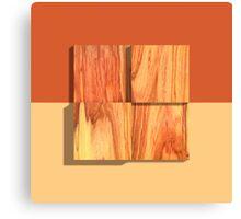 Tulipwood Blocks Four Canvas Print