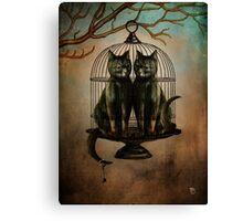 Naughty Kitties Canvas Print