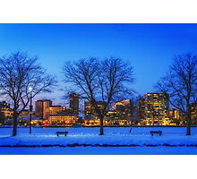 Cold view Warm city lights Photographic Print