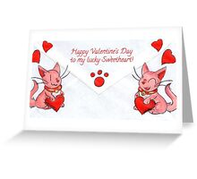 Lucky Valentine Greeting Card