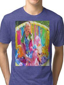 X CLAIM NATION- POOL PARTY Tri-blend T-Shirt