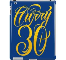 Steph Curry 30 Typography iPad Case/Skin