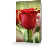 La Couleur de l'Amour est Rouge Greeting Card