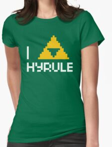 I Triforce Hyrule Womens Fitted T-Shirt