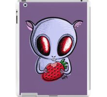cute hamster with a strawberry iPad Case/Skin