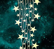 Happy Birthday To You - teal space by MrsTreefrog
