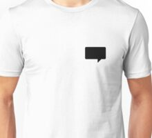 Black Empty Speech Bubble Unisex T-Shirt