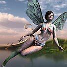Dragonfly Faerie by Sandra Bauser Digital Art