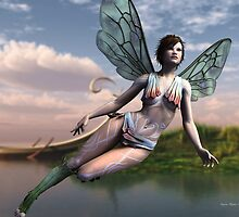 Dragonfly Faerie by Sandra Bauser Digital Art