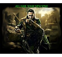 All Hail King Loki Photographic Print
