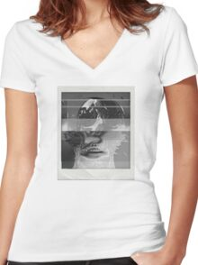 Death_Glitch Women's Fitted V-Neck T-Shirt