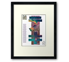 Parting Displacement. Framed Print