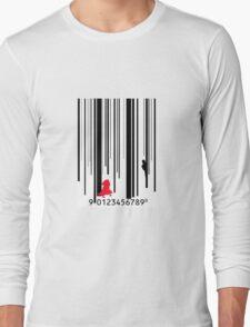 Little Red Barcode  Long Sleeve T-Shirt
