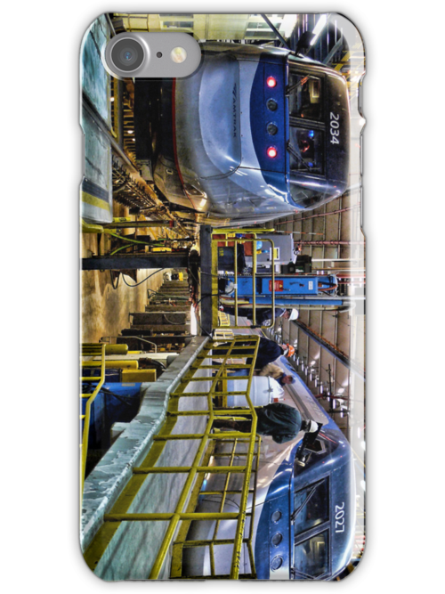 Acela Express Units in the Shop - Boston - iPhone case by Jack McCabe