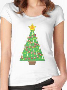 Danish Christmas Tree Women's Fitted Scoop T-Shirt