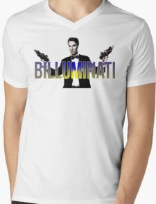 "BILL NYE THO ""Billuminati"" Design Mens V-Neck T-Shirt"