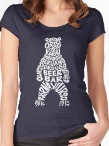 World bear - white logo Women's Fitted Scoop T-Shirt