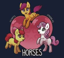 Hearts Strong as Horses Kids Tee