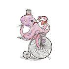 Octopus Hipster by Alephredo Muñoz