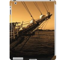 Yacht front sailing. iPad Case/Skin