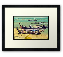 Men at work  Framed Print