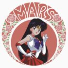 Sailor Mars - Circle Tee by MrAdrian