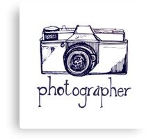 Photogrpaher and vintage camera Canvas Print