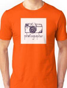 Photogrpaher and vintage camera Unisex T-Shirt
