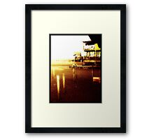 Wooden homes on the Adaman Sea  Framed Print