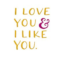I love you & I like you -- Yellow by Michelle Arguelles