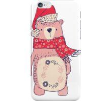 Christmas winter bear iPhone Case/Skin