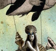 Valenzia and her Angelfish Racer Sticker