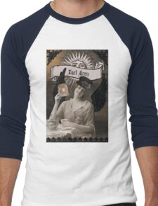 Teatime with Abigail Grey Men's Baseball ¾ T-Shirt