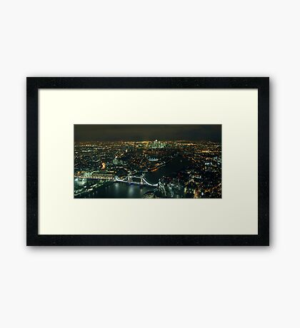 London by Night by The Shard Framed Print