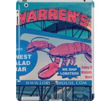 Warrens Lobster House Neon Sign Kittery Maine iPad Case/Skin